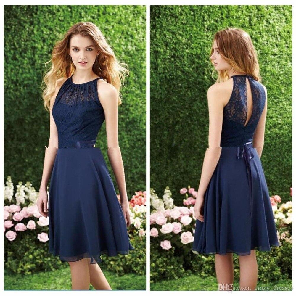 Navy Blue Lace Bridesmaid Dresses Promotion-Shop for Promotional ...