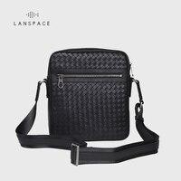 LANSPACE мужская кожаная сумка маленькая сумка ручной работы Мужская модная сумка Кроссбоди Мешок