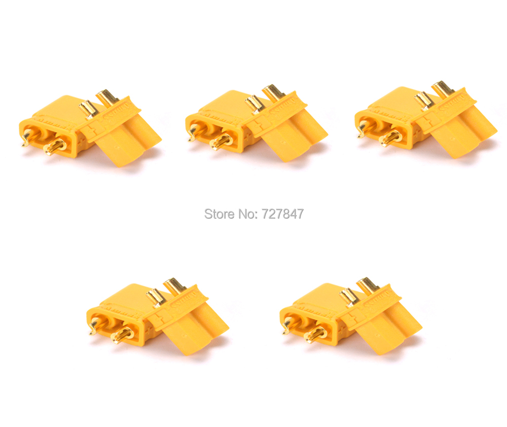 Hot sell XT30 2mm Golden Connector / Plug Set for RC Mini Quadcopter Multicopter Airplane