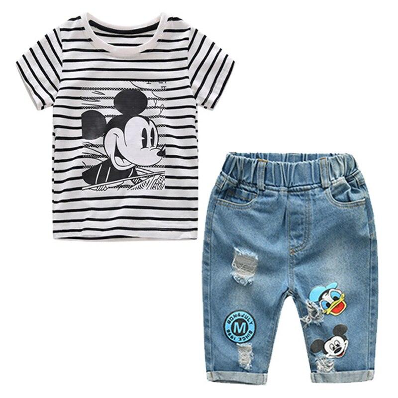 b712fe49c3c5 2018 Summer Baby Clothes Kids Cartoon Donald Duck And Daisy ...