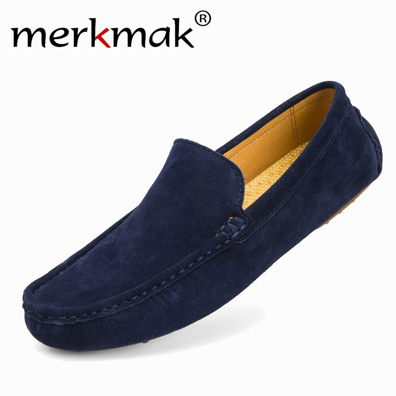 Merkmak High Quality Men Flats Shoes Genuine Leather Casual Loafer Softs Moccasins Driving Footwear Breathable Shoes Wholesales 3 narrow beam indoor wall effect light led architectural facade lighting 3 emission led wall sconce ac90 260v input decoration