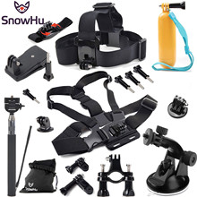 Gopro Accessories set kit Floating Bobber stick Monopod Hand Head Chest For Go pro Hero 4 3+ 2 sport xiaomi yi case sj7000 GS07