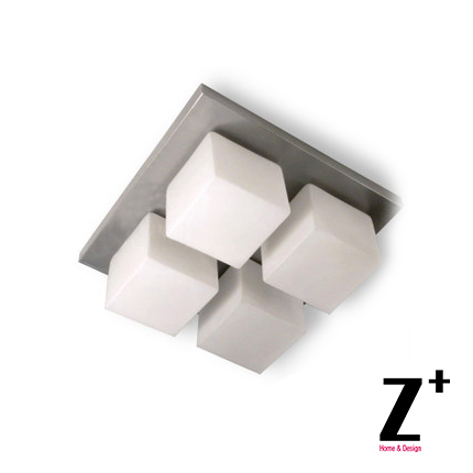 Led verlichting designer ijzer glas cube spuare plafondlamp ...