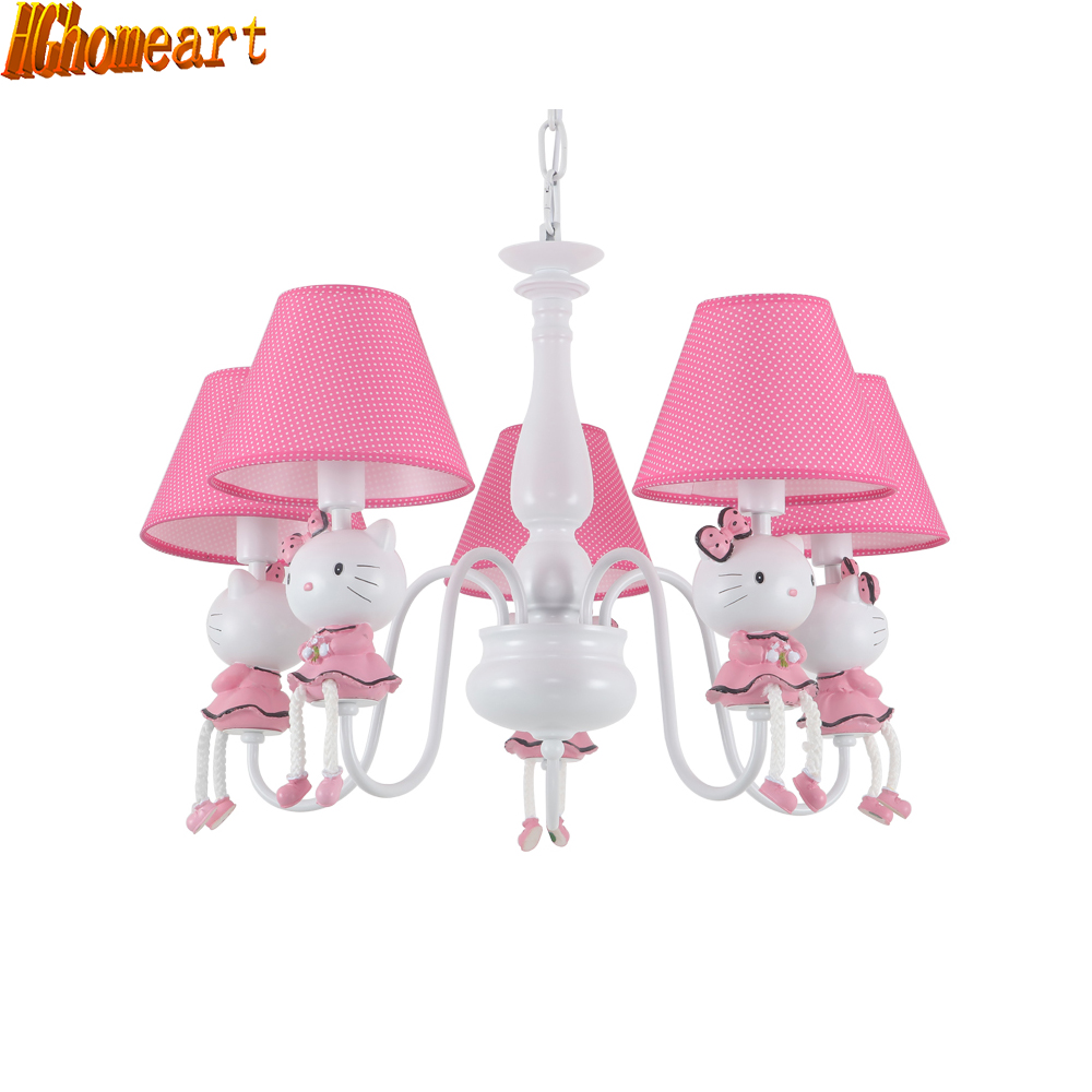 HGhomeart Modern cartoon energy saving cartoon chandelier children room lights girl princess bedroom lights hghomeart kids led pendant lights basketball academy lights cartoon children s room bedroom lamps lighting