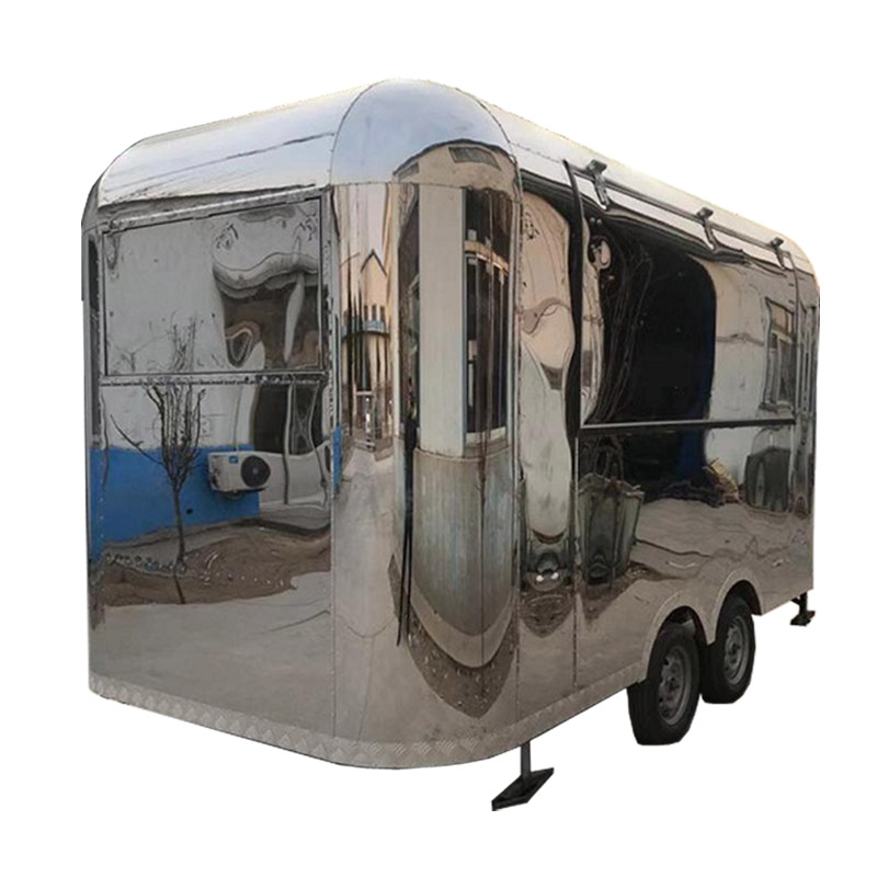 The Best Sale Breeze Full Stainless Steel KN-400 Street Mobile Food Trailer/truck/fast Food Van With Free Shipping By Sea