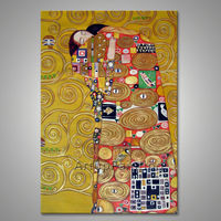 Gustav Klimt Oil painting on Canvas Hand painted The Kiss Decorative wall painting Paintings For Living Room
