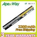 Apexway 4 células bateria do portátil para lenovo g400s g405s g410s g505s g510s s410p s510p z710 l12m4e01 l12l4e01 l12m4a02 l12l4a02