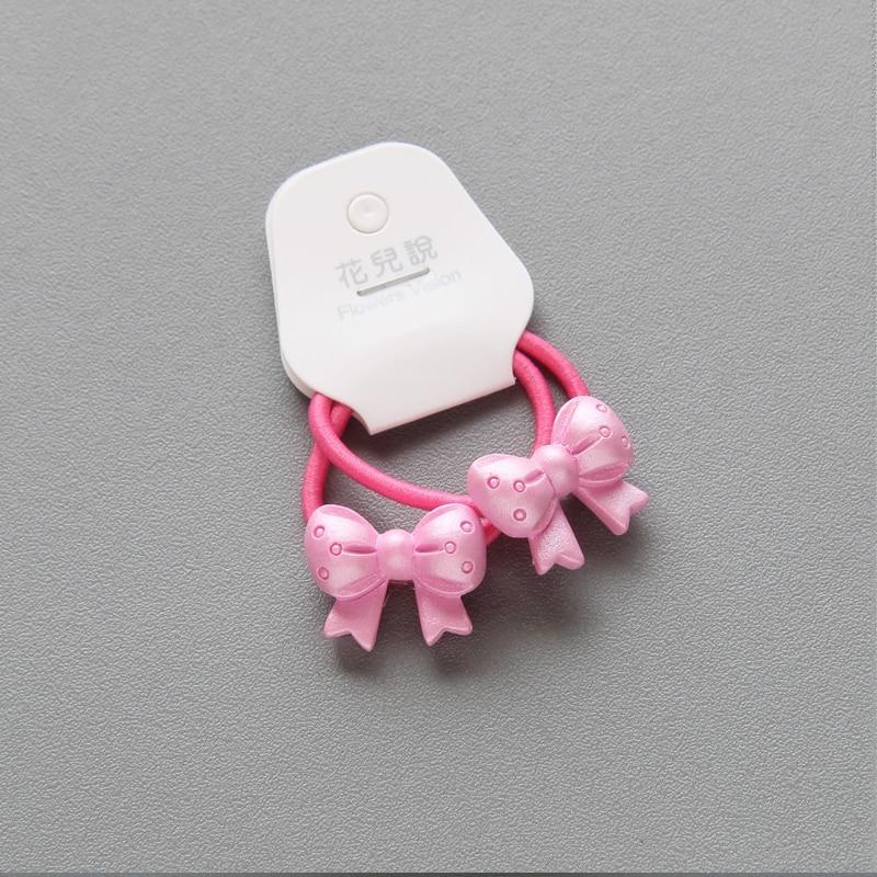 Elegent 2 PCS Children Animal Mushroom Princess Elastic Hair Bands Headwear Headdress Hair Ropes Tie Gum Girls Hair Accessories in Hair Accessories from Mother Kids
