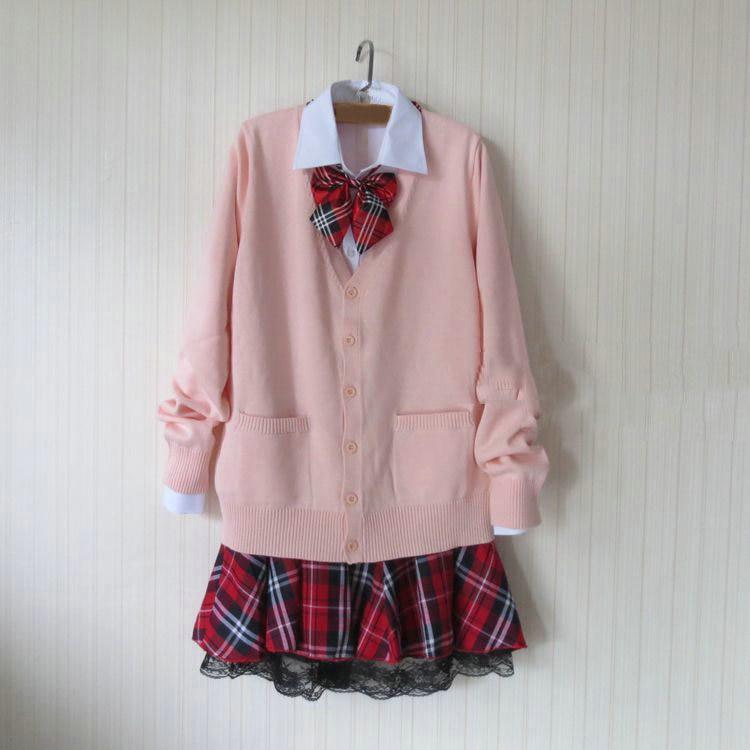 JK Lolita Cardigan Japanese School Uniform.