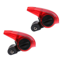 2Pcs Mini Bike Brake Light Mount Tail Rear Bicycle Light LED Safety Warning Light Bicycle Accessories Red стоимость