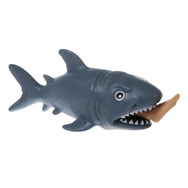 KEOL Best Sale Funny Man-eating Shark Toy Scary eat leg Animal Prank Wacky Squeezing Stress Toy April Fools gift for kids