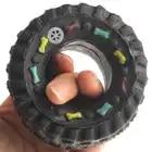 30 pièces/pack pneu forme chien couinement jouets Pet chien jouets chien à mâcher jouets Pet chien hurlant caoutchouc jouets pneu forme Pet approvisionnement produit