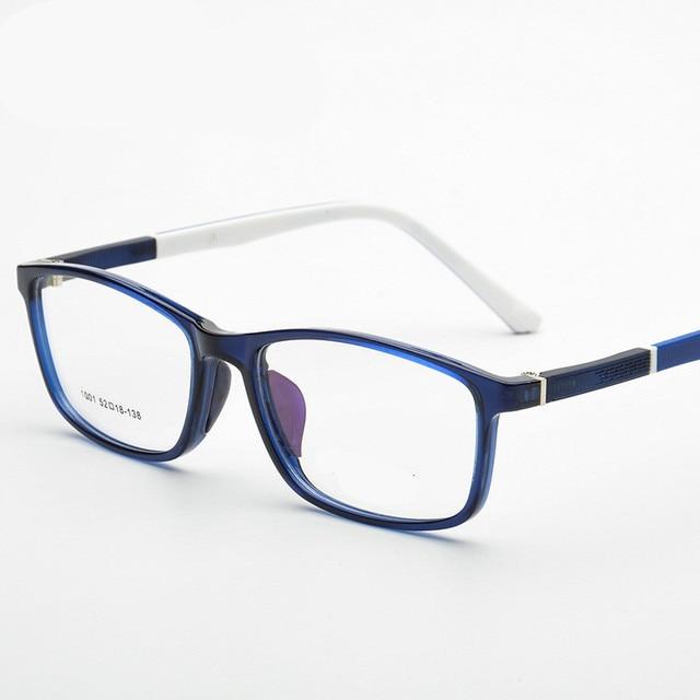 3569c966ad2 Brand TR90 Square Eyes Black Blue Wine Red Eyeglasses Fresh Myopia  Spectacle Students Fashion Prescription Glasses Frame 5colors