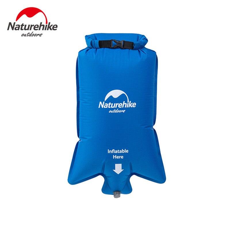 Naturehike Impermeável Saco de Flotação Inflável Moisture-proof Portátil Dobrável Picnic Camping Caminhadas Natação Bóia de Vida do Air Bag