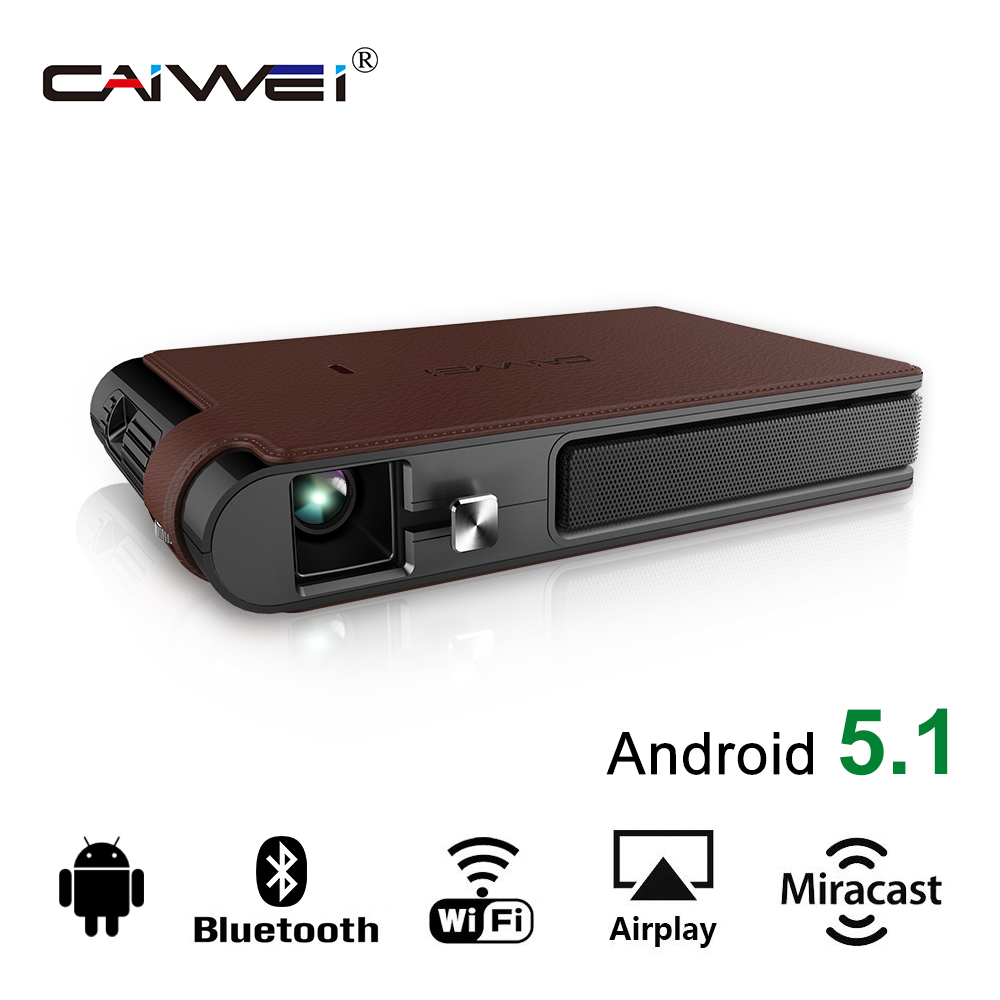 CAIWEI DLP Android Bluetooth WiFi Smart Projector Proyector HD 1080p Pocket Beamer For Home Theater Smartphone TV Video mini tv micro dlp wifi portable pocket led smartphone projector bluetooth pico hd video 1080p hdmi for ipad iphone 6 7 white ios