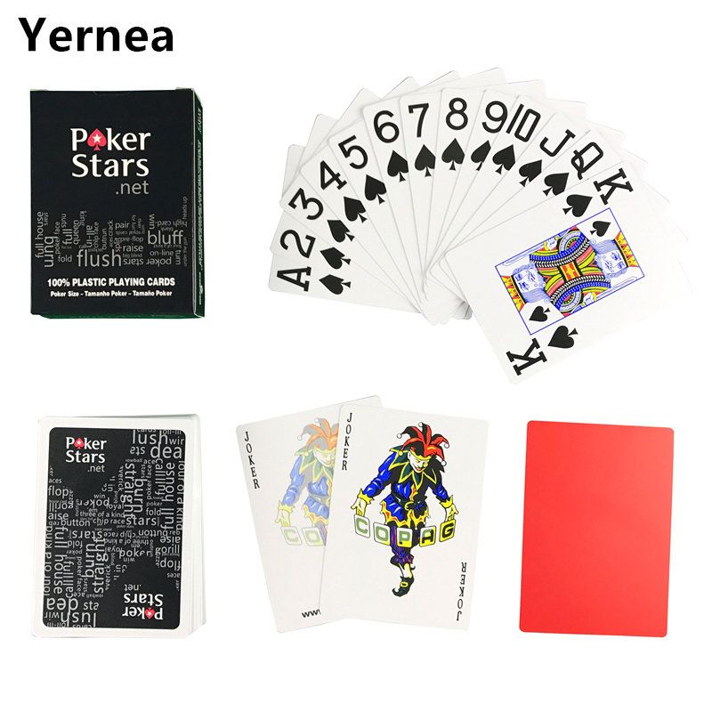 HOT Red and Black Color PVC Pokers for Choosen and Plastic playing cards poker stars 2.48* 3.46inch Baccarat Poker Games Yernea