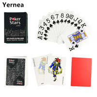 HOT Red and Black Color PVC Pokers for Choosen and Plastic playing cards poker star 2.48* 3.46inch Baccarat Poker Games Yernea