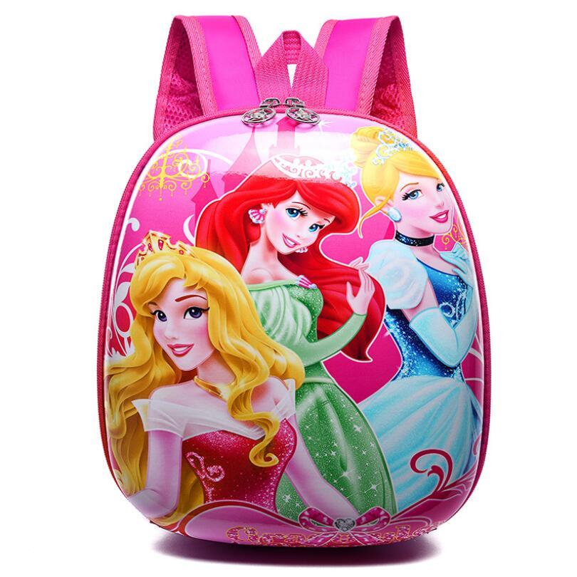 2018 3D Cute Princess Design Backpack Kids School Bags For Girls Boys Cartoon Shaped Children Sofia Backpacks