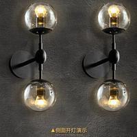 Книги по искусству Studio 2 головы зеркало стеклянный шар настенный светильник Abajur E27 привело современный настенный светильник кафетерий Проф