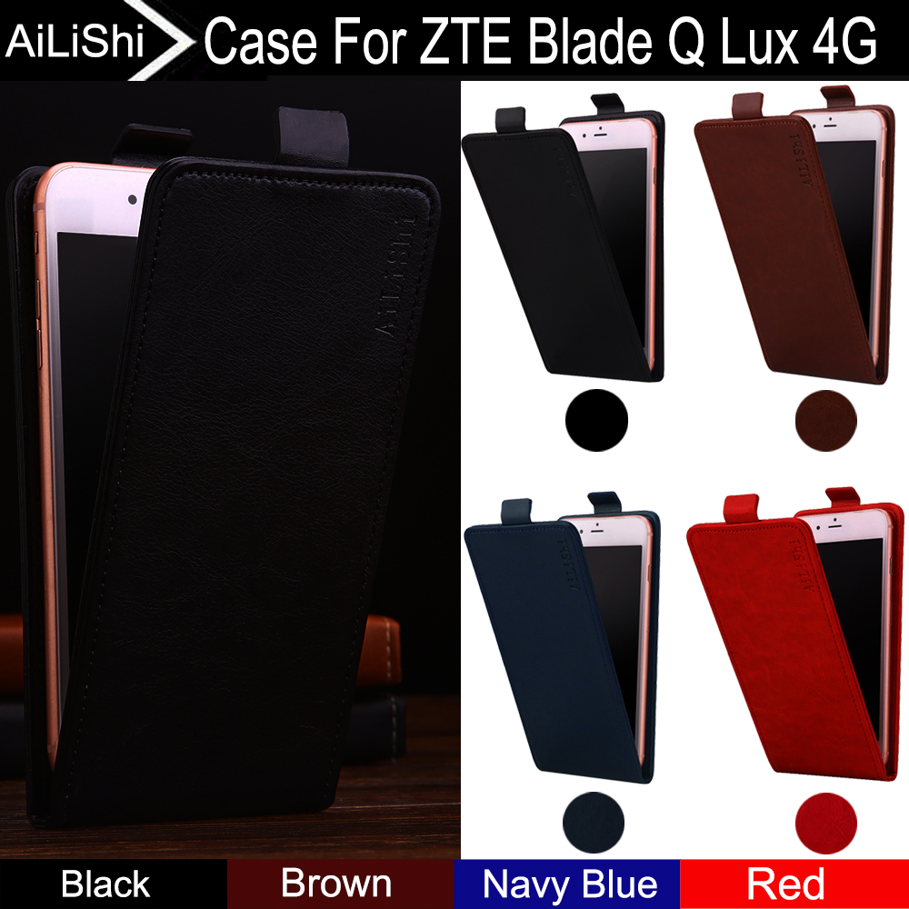 AiLiShi For ZTE Blade Q Lux 4G Case Up And Down Vertical Phone Flip Fashion Leather Case Phone Accessories 4 Colors Tracking