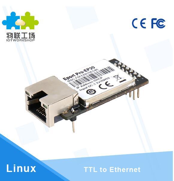 10pcs/pack CE HF Eport Pro-EP20 Linux Network Server Port TTL Serial to Ethernet Embedded Module DHCP 3.3V TCP IP Telnet maitech ethernet network to serial rs232 rj45 turn ttl serial server module green