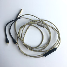 Upgrade Silver Audio Cable For Astel&kern AK T8iE MK II/T8iE headphones With remote mic(China)