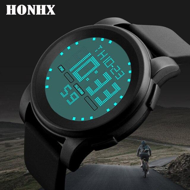 New 2018 Mens Digital Watch LED Waterproof Alarm Stopwatch Men Women Outdoor Running Sports Watches Relogio 2