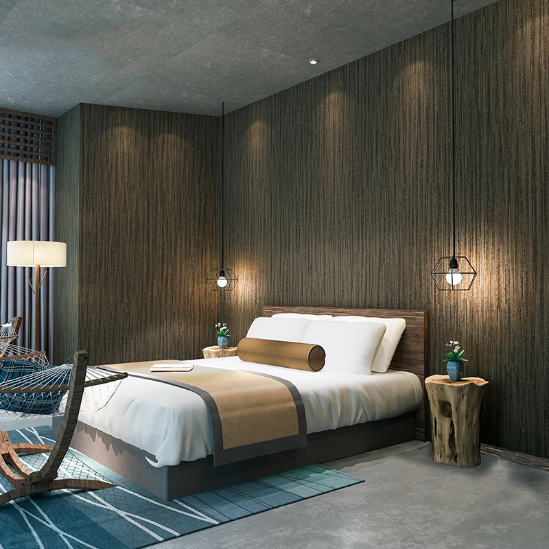 grey modern dark linen texture simple bedroom 3d wall living stripe paper decor background non study woven wallpapers papers geometric