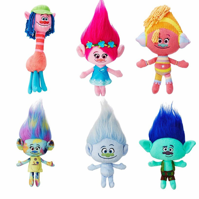 23cm 30cm 36cm Dreamworks The Good Luck Trolls Doll Dream Magic Fairy Hair Wizard Blanche Bobbi Magic elf Mega Town Stuffed Kids