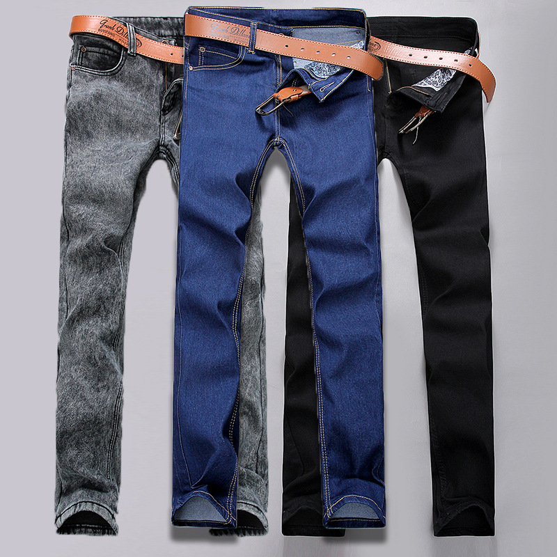 pantalones jeans hombre 2017 Mens jeans New Fashion Men Casual Slim Straight Jeans Long Trousers jean blanc homme pants techome new 2016 jean mens pants men s jeans men trousers mid waist straight business casual style size jeans homme plus size 22