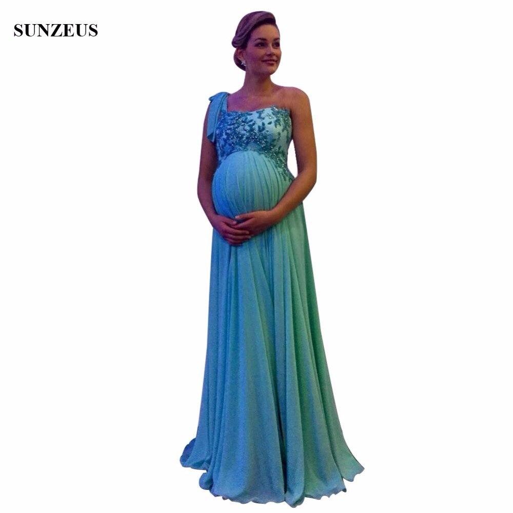 Elegant One Shoulder Mother Of The Bride Dress Beaded Appliques ...