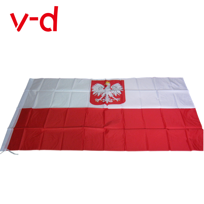 free shipping xvggdg The Poland <font><b>Flag</b></font> Polyester <font><b>Flag</b></font> 5*3 FT <font><b>150</b></font>*<font><b>90</b></font> CM High Quality Cheap Price In-kind Shooting image