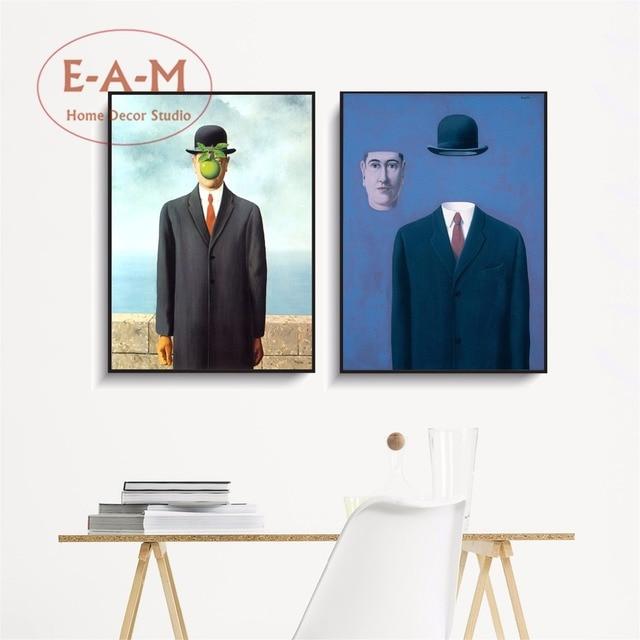 Surreal Anzug Mann Leinwand Kunstdruck Malerei Poster Abstrakte Wandbilder Fr Wohnzimmer Dekoration Wand