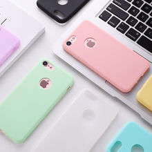 Luxury Candy Color Hard Silicone Phone Case For iPh