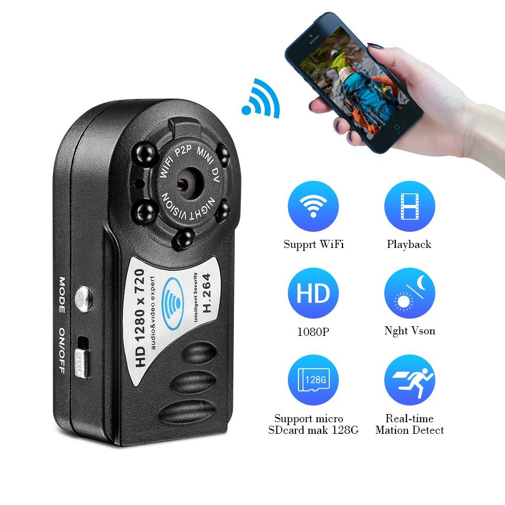 Volemer Q8 Mini Wifi IP Camera 720P HD Wireless Mini Camera Infrared Night Vision DV DVR Camera Motion Sensor Mini Camcorder