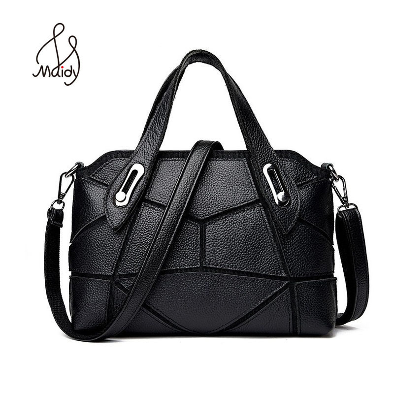 Fashion Genuine Leather Luxury First Layer Cowhide Messenger Bags Shoulder Bag Tote Handbag Hand Bag For Women High Quality luxury cowhide hand strap pu leather