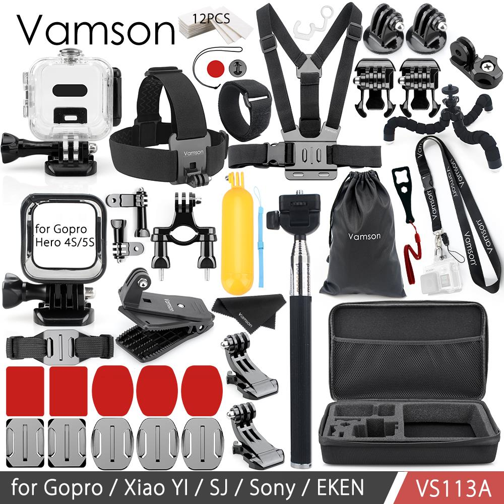 Vamson for gopro hero 4 session Mount Tripod Waterproof Housing Case Frame Silicone Neck Strap VS113A