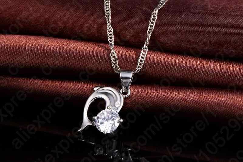 2020 na moda design de dolphine pingente 925 prata esterlina jóias finas colar brinco para o casamento feminino conjunto presentes