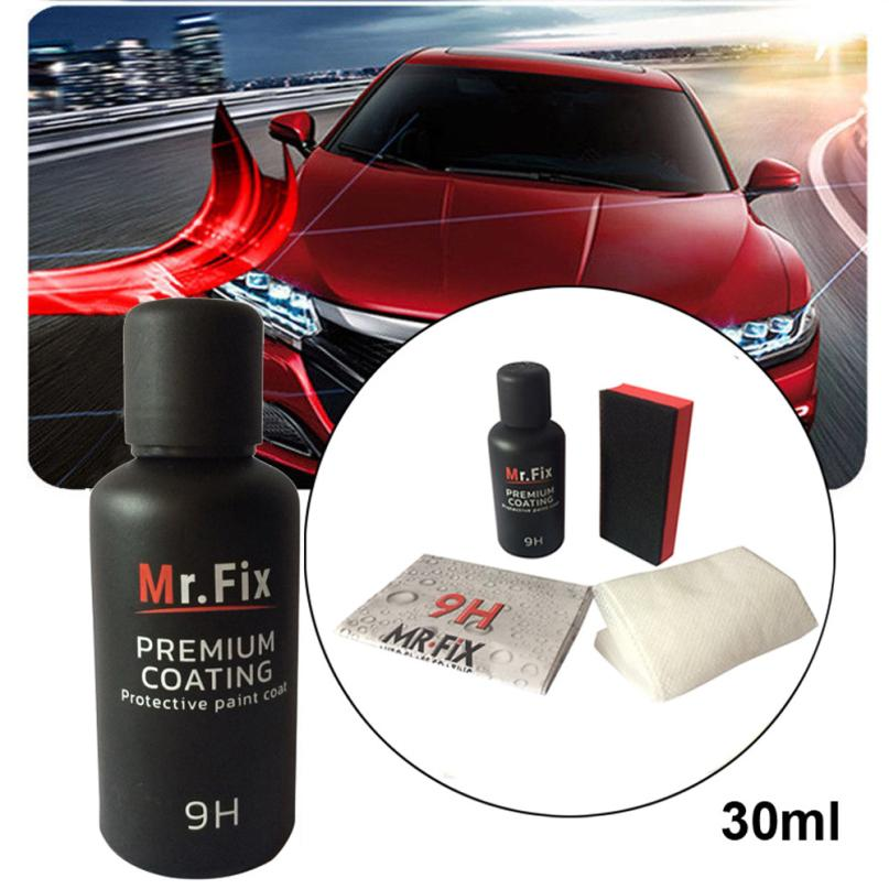 CARPRIE 30ML 9H Car Oxidation Liquid Ceramic Coat Super Hydrophobic Glass Coating Set July3 Drop Shipping фонарь налобный silva headlamp trail runner 2