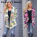 Fover 21 New Sexy Chic  Women Floral Printed Irregular Shawl Kimono Cardigan Tops Cover Up  Free shipping Wholesale