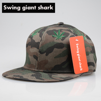 Swing Giant Shark High Quality Flat Brim Baseball Cap Snapback Hip Hop Bone Men Camouflage