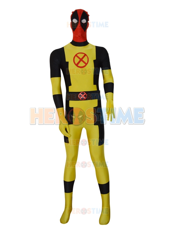 New Style Custom X-men Deadpool Costume The Most Popular Halloween Fullbody Spandex Superhero Zentai Suit Free Shipping