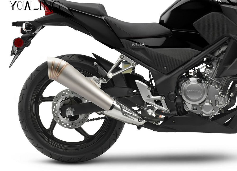 Universal Modified Motorcycle Exhaust Muffler with DB Killer Scooter FOR  Kawasaki Z750R ZX10R ZX6R/636 H2 H2R Z1000SX/NINJA 1000