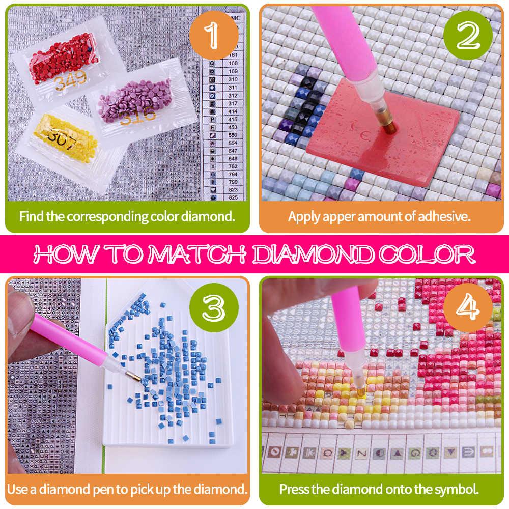 5D алмазная вышивка со светодиодным динозавром Алмазная вышивка Diy Новое поступление мультфильм для детей распродажа мозаика подарок для детей день рождения