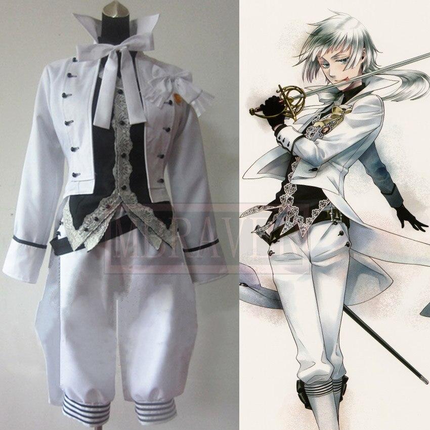 Black Butler Charles Grey Cosplay Costume Anime White Custom Made Any Size