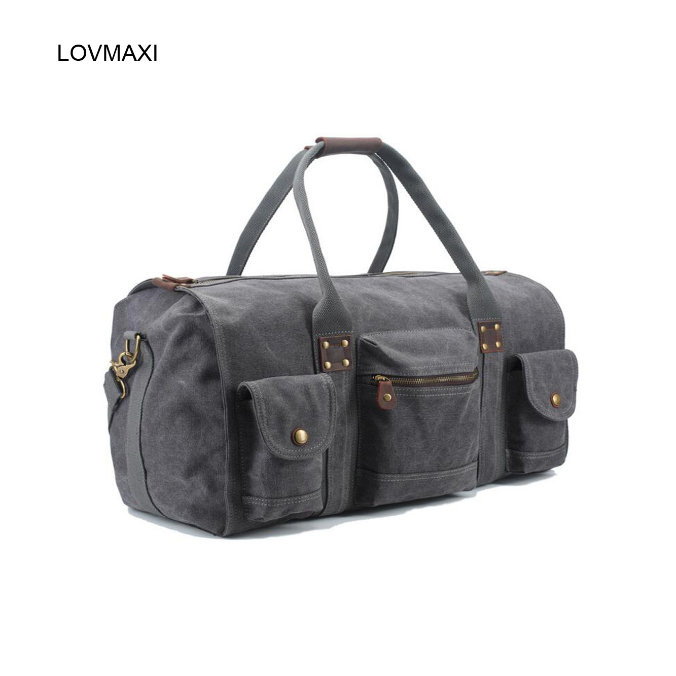 LOVMAXI New Mans canvas casual large travel bags vintage fashion big travel bag business messenger bags