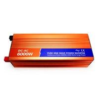 DECEN 6000W 12VDC 110V 120V 220V 230VAC 50Hz 60Hz Peak Power 12000W Pure Sine Wave Solar