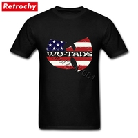 Extra Large Vintage Wu Tang Clan Shirt For Men American Hip Hop Style Fashion Short Sleeve