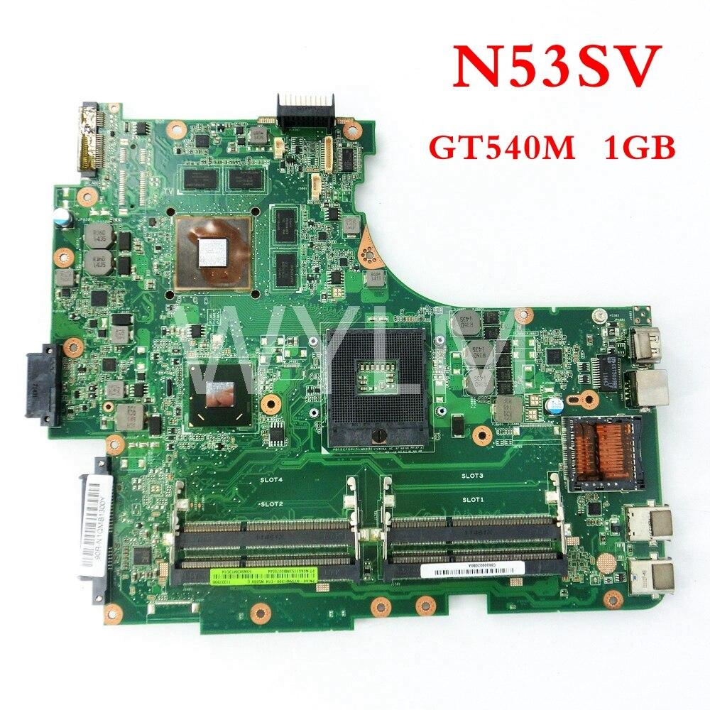 Livraison gratuite GT540M 1 GB carte mère Pour ASUS N53S N53SV N53SN N53SV N53SM mère D'ordinateur Portable 60-N1OMB1400-B18 100% Testé