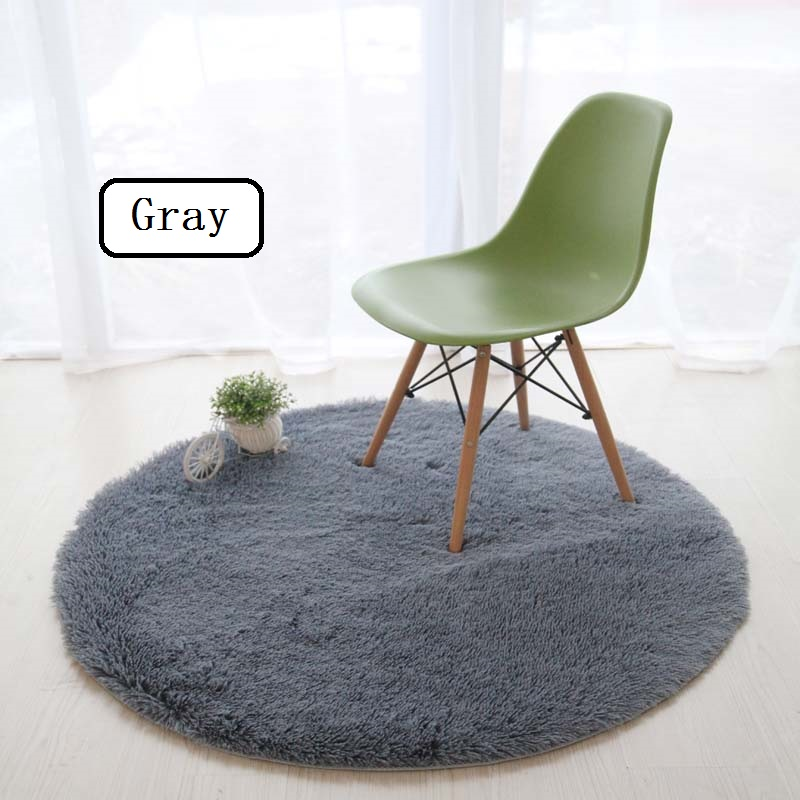 WINLIFE Super Soft Soild Carpets Computer Chair Mats Tea Table Washable Rugs Anti-Skid Decorative Mats For Parlor/Bedroom/Hotel